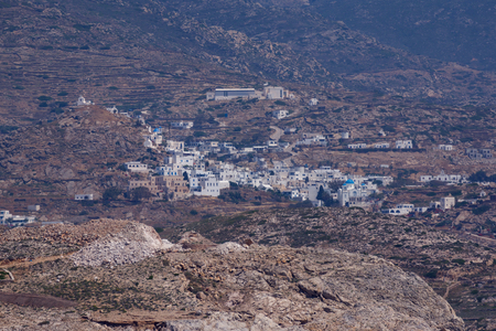 ios: Landscape of Ios island in Aegean sea, Cyclades, Greece Stock Photo