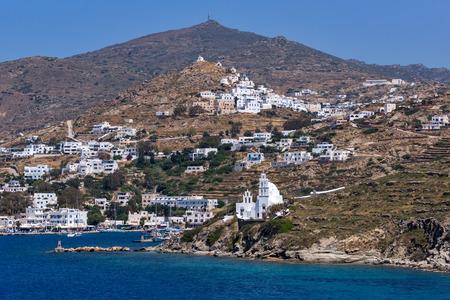 ios: White houses and churches Ios Island, Cyclades, Greece