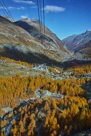 valais: Amazing Autumn panorama to Zermatt, Canton of Valais, Switzerland