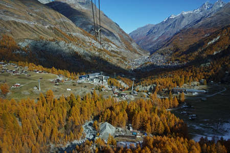 valais: Amazing Autumn Landscape to Zermatt, Canton of Valais, Switzerland