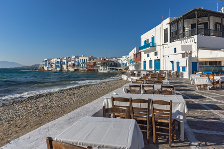little venice: Typical Restaurant and Little Venice at Mykonos, Cyclades Islands, Greece