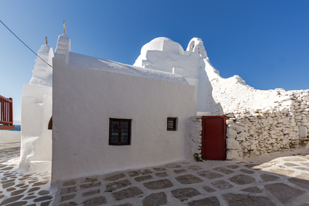 cyclades: Amazing building of orthodox church Mykonos, Cyclades Islands, Greece