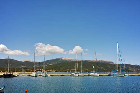 cefallonia: Amazing view of port of town of Sami, Kefalonia, Ionian islands, Greece