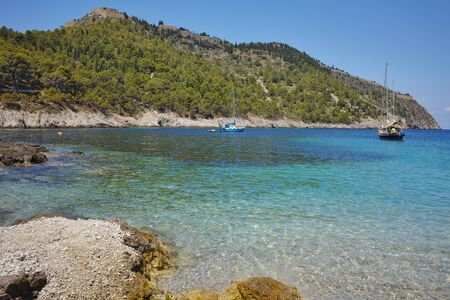 cefallonia: Bay of Assos village and beautiful sea bay, Kefalonia, Ionian islands, Greece