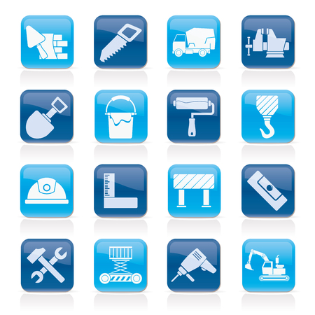 brig: Building and construction tools icons - vector icon set