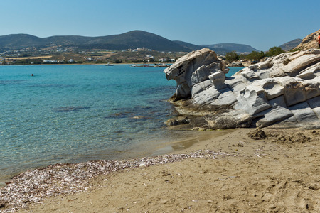 blue waters: Blue Waters of kolymbithres beach, Paros island, Cyclades, Greece