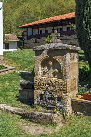 balkan peninsula: Fountain and Courtyard in Temski monastery St. George, Pirot Region, Republic of Serbia