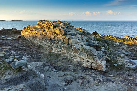 archeological site: Archeological site in town of Sozopol, Burgas Region, Bulgaria Stock Photo