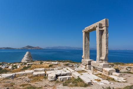 apollo: Panoramic view of Portara, Apollo Temple Entrance, Naxos Island, Cyclades, Greece