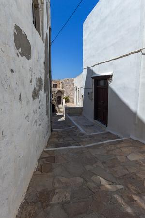 naxos: Street in  Chora town, Naxos Island, Cyclades, Greece