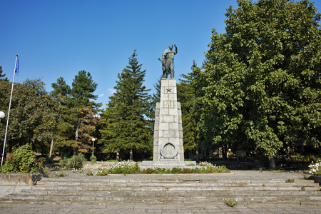 ideological: communist monument of partisan in Village of Krushuna, Lovech region, Bulgaria