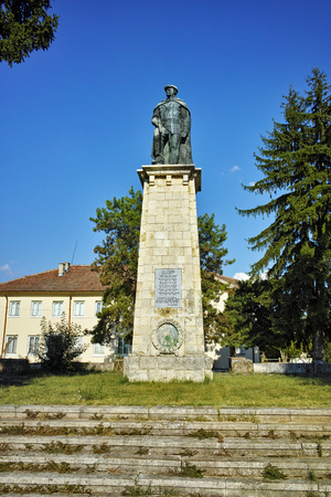 ideological: communist monument of partisan in Village of Chavdartsi Lovech region, Bulgaria Editorial