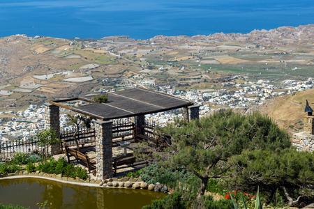 thira: Panoramic view of Santorini island, Thira, Cyclades, Greece