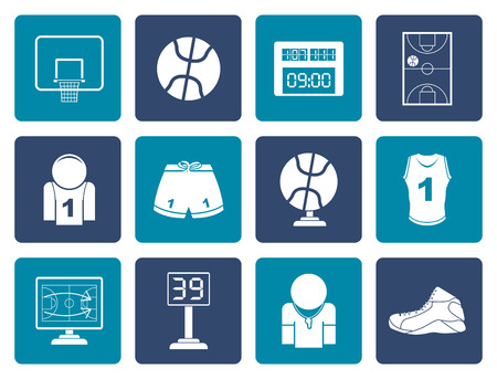 tournament bracket: Flat Basketball and sport icons - vector Icon Set