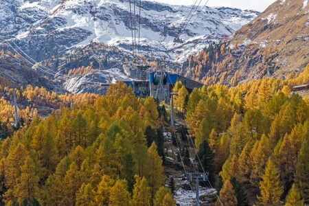 valais: Amazing Autumn Landscape near Zermatt, Canton of Valais, Switzerland