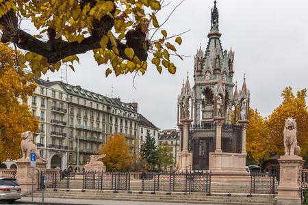 mausoleum: Brunswick Monument and Mausoleum in Geneva, Switzerland Editorial