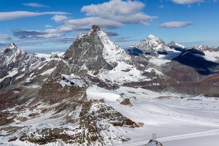 valais: Amazing view of mount Matterhorn, Canton of Valais, Alps, Switzerland Stock Photo