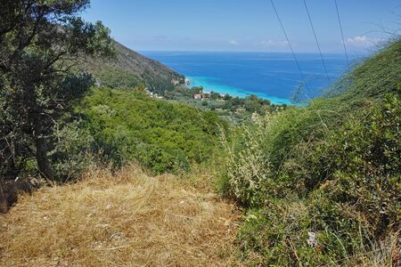 blue waters: Panoramic landscape with blue waters, Lefkada, Ionian Islands, Greece