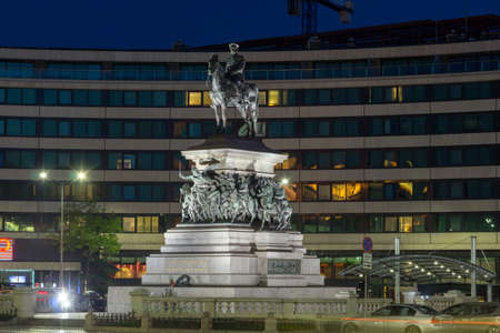 tsar: Night photo of Monument to the Tsar Liberator, Sofia, Bulgaria