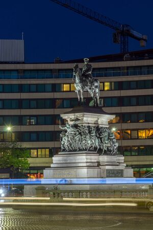 the liberator: Night photo of Monument to the Tsar Liberator, Sofia, Bulgaria