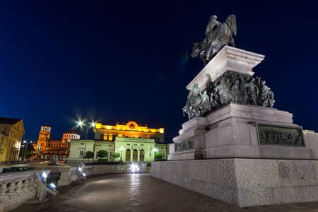 tsar: Monument to the Tsar Liberator, National Assembly and Alexander Nevsky Cathedral in city of Sofia, Bulgaria