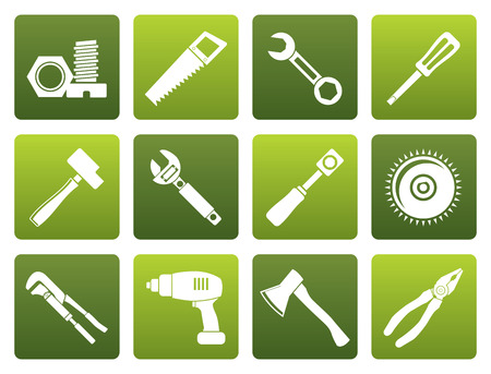 maul: Black different kind of tools icons - icon set