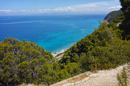 ionian: Amazing Seascape with blue waters at Lefkada, Ionian Islands, Greece