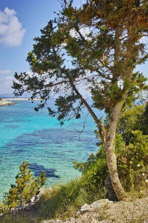 mediterranean forest: Amazing Panorama of Emblisi Fiskardo, Kefalonia, Ionian Islands, Greece