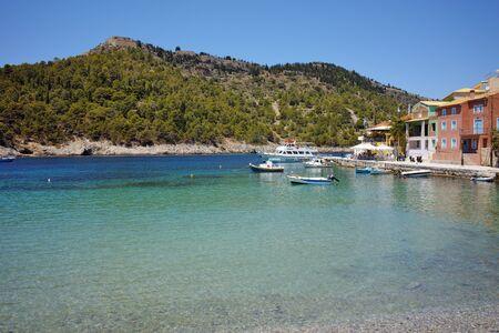 cefalonia: Beautiful Bay of Assos village and beautiful sea bay, Kefalonia, Ionian islands, Greece