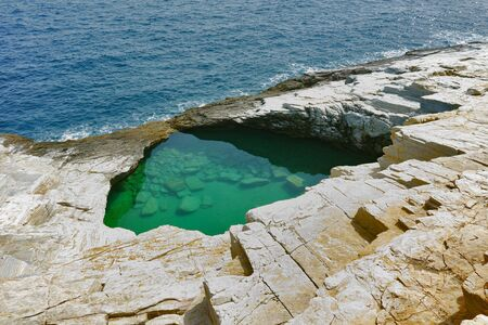 thassos: Giola Natural Pool in Thassos island, East Macedonia and Thrace, Greece