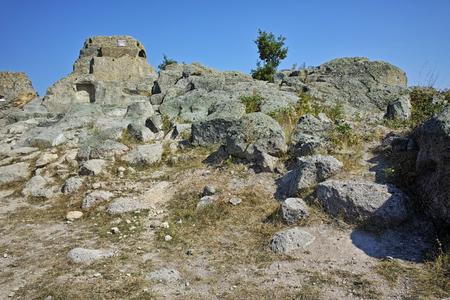 truncated: Panoramic view of Antique Thracian sanctuary Tatul, Kardzhali Region, Bulgaria