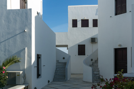 thira: Panoramic view to town of Fira, Santorini island, Thira, Cyclades, Greece