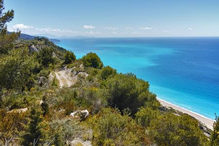blue waters: Blue Waters of Gialos Beach, Lefkada, Ionian Islands, Greece