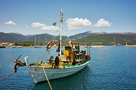 cefallonia: drover in the port of town of Sami, Kefalonia, Ionian Islands, Greece