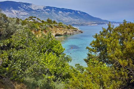 cefallonia: Clear waters of Pesada beach, Kefalonia, Ionian islands, Greece