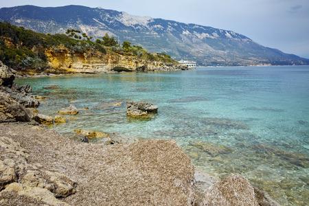 cefallonia: Panoramic view of Pesada beach, Kefalonia, Ionian islands, Greece