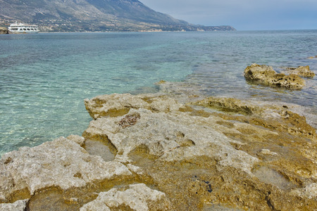 cefallonia: Amazing seascape of Pesada beach, Kefalonia, Ionian islands, Greece