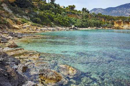 blue waters: Blue waters of Pesada beach, Kefalonia, Ionian islands, Greece