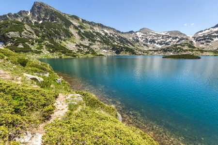 clear waters: Sivrya peak and clear waters of Popovo lake, Pirin Mountain, Bulgaria