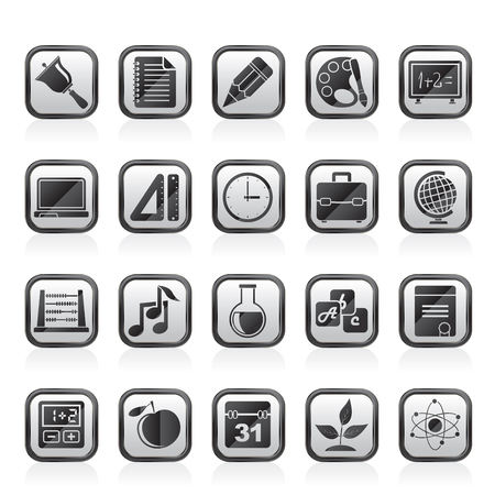 vector studies: Education, science and studies icons  - vector icon set