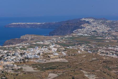 thira: Amazing panorama of Santorini island, Thira, Cyclades, Greece