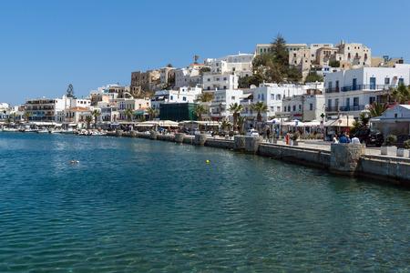 naxos: Embankment of Chora town, Naxos Island, Cyclades, Greece