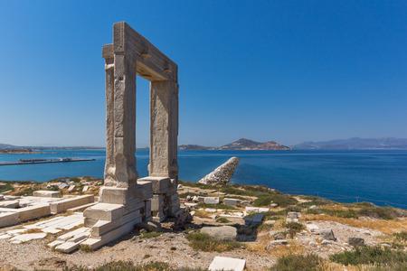 apollo: Ruins of Portara, Apollo Temple Entrance, Naxos Island, Cyclades, Greece