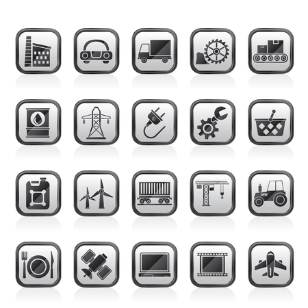 tube wrench: Business and industry icons - vector icon set