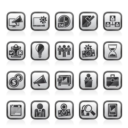 management concept: Business management concept icons - vector icon set