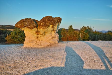 Prodigy: Sunrise over rock formation The Stone Mushrooms near Beli plast village, Kardzhali Region, Bulgaria