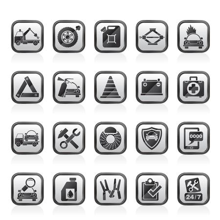 Roadside Assistance e traino icone - vector icon set