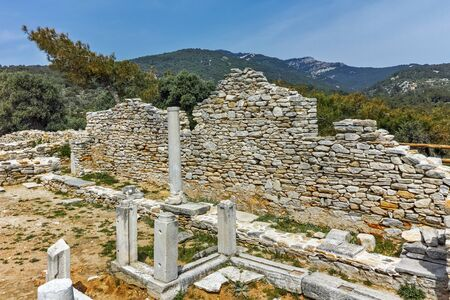 thassos: Inside view of  ancient church in Archaeological site of Aliki, Thassos island,  East Macedonia and Thrace, Greece