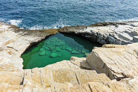 natural pool: Giola Natural Pool in Thassos island, East Macedonia and Thrace, Greece