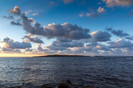 archeologist: Sunset panorama of st. Ivan island near Sozopol Town, Burgas Region, Bulgaria